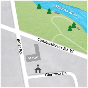 Byron Community Church Map